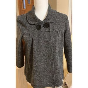H&M Double Breasted Gray Cardigan Sweater